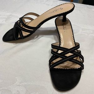 Classifies Entier 8 1/2 sandal black suede